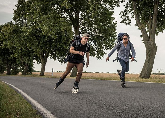 Diese zwei Deutschen rollen 7000 km durch Südamerika – auf Inlineskates