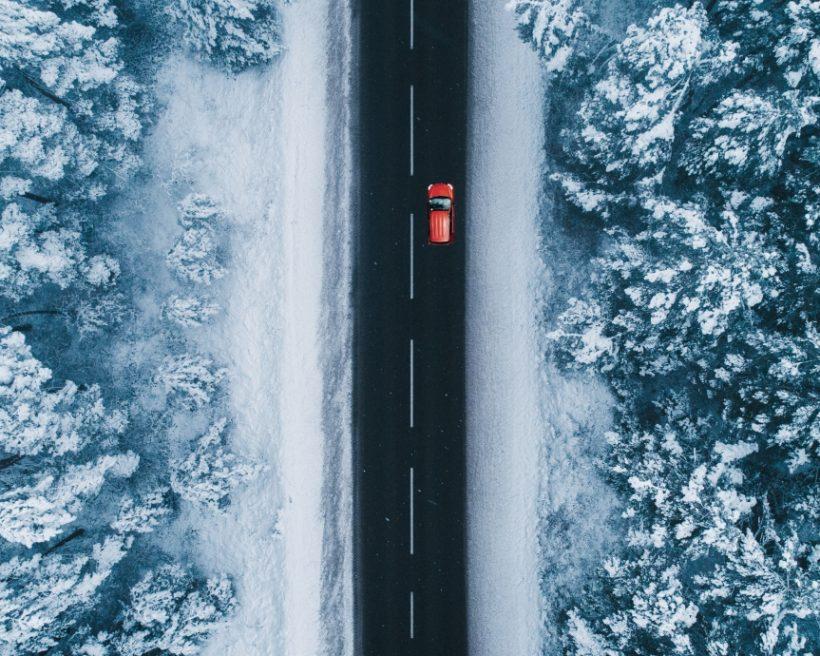 Mietwagen im Winter